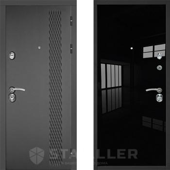 Входная железная дверь Staller Лика Черный Люкс