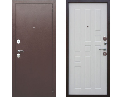 Дверь входная в квартиру металлическая Цитадель Гарда 8 мм Белый Ясень