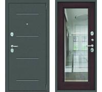 Зеркальная входная дверь с зеркалом Цитадель Гарда Фацет с зеркалом Венге