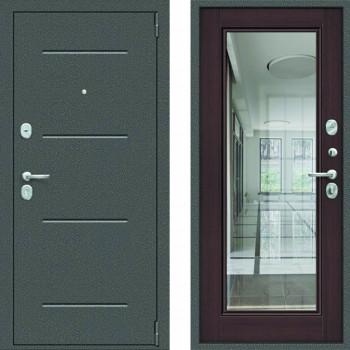 Зеркальная входная дверь Цитадель Гарда Фацет с зеркалом Венге