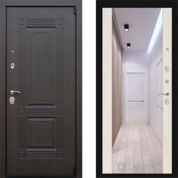 Дверь входная металлическая МДФ Заводские Двери Италия  с зеркалом