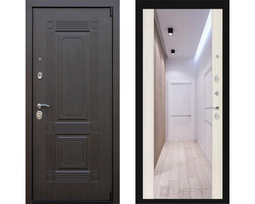 Зеркальная дверь входная с зеркалом МДФ  Заводские Двери Италия  с зеркалом