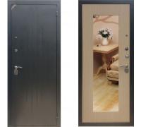 Входная металлическая дверь КОМФОРТ 2/Б1 Белый венге с зеркалом